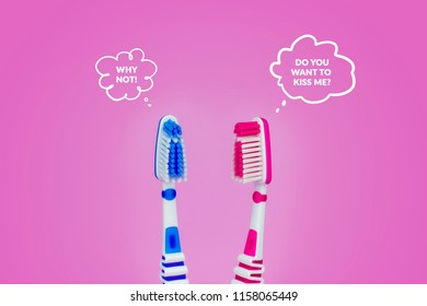 speaking clean and dirty toothbrushes