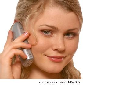 speaks by phone