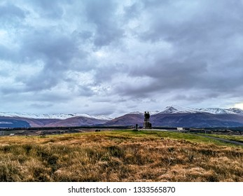 SPEAN BIRDGE / SCOTLAND - OCTOBER 27 2018: The Commando Memorial is dedicated to the men of British Commando Forces raised during World War II