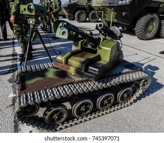 Special anti terrorist vehicle equipped with machine gun