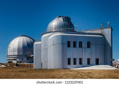 A special astrophysical observatory against the background blue sky.