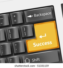 Special black keyboard - success button