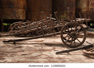 Special carts were used for transporting Kvevri