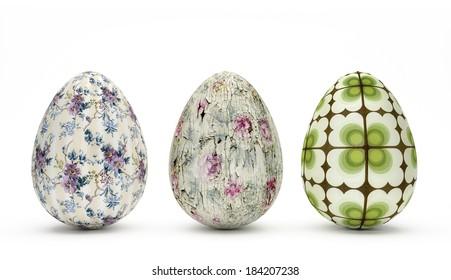Special Easter Eggs - Vintage Look