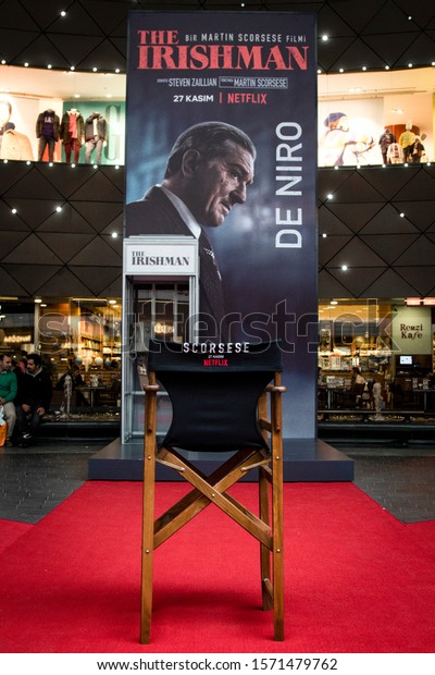 "Special event of Netflix's new movie ""The Irishman"" at Kanyon Shopping Mall. ISTANBUL / TURKEY - NOVEMBER 26, 2019."