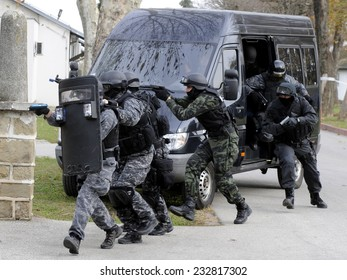 Special force police in action