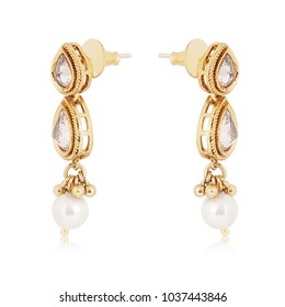 Special gold-diamond earrings for special one