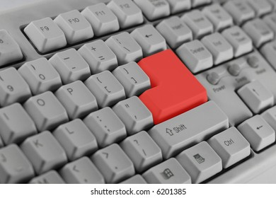 Special keyboard with red enter