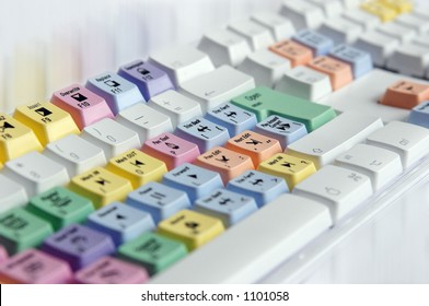 Special keyboard for video editing.