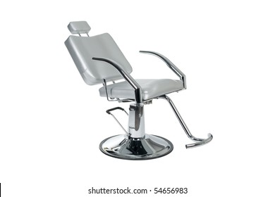 Special makeup artist chair isolated on white.
