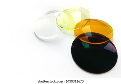 Special medical filters for spectacle vision correction.  spectacle lenses. For driving.