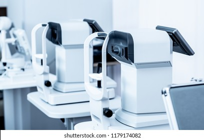 Special modern white diagnostics devices in the ophthalmologic clinic