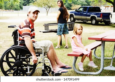 Special needs family at the park
