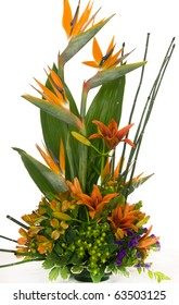 Special occasion bouquet with bird of paradise.
