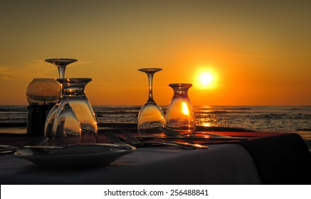 Special Occasion.  El Salvador and Dinner on the Pacific Ocean at sunset.