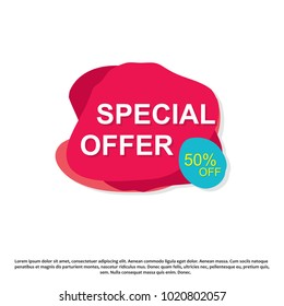 Special offer creative banner illustration.