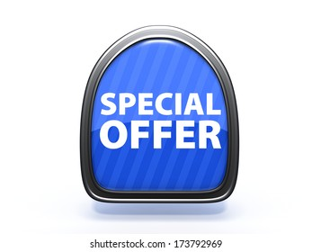 Special offer pick icon on white background
