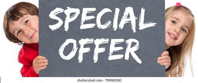 Special offer sale shopping shop retail young children kids marketing