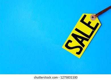 special offer, sales tags, discount symbol. retail sticker on blue background for store marketing promotion, seasonal spring sale concept