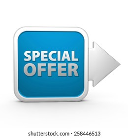 Special offer square icon on white background