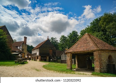 Special old house and life display in Weald & Downland Living Museum at Chichester, United Kingdom
