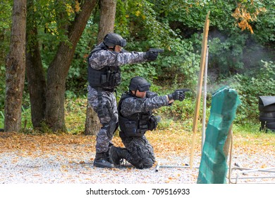 special police training at the shooting range