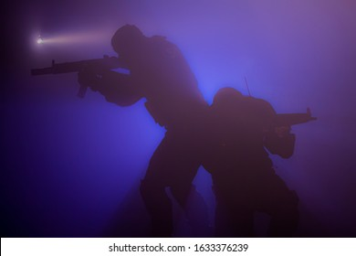 Special police units and commandos during the operation.