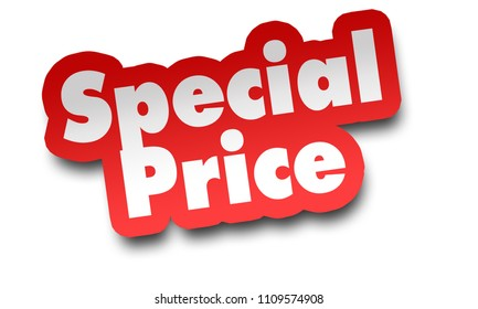 special price concept 3d illustration isolated on white background