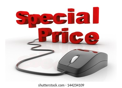Special Price connected to a computer mouse