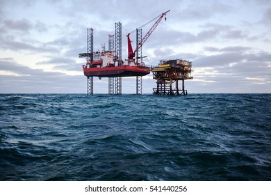 Special purpose ship and oil platform in the USA
