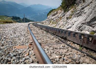Special railway with teeth which is used for climbing on the hills.