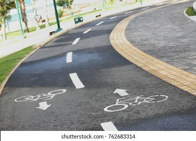 special road for biking in the city