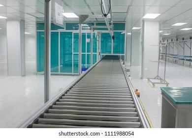 Special roller conveyor in clean room