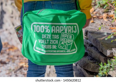 Special Safety Bag At The Apenheul Zoo Apeldoorn The Netherlands 2018
