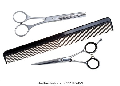 Special scissors for hairdresser operation and a hairbrush