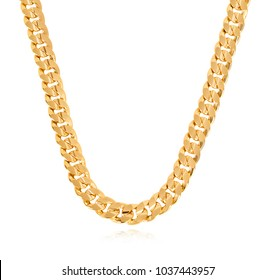 Special thick neck chain of gold