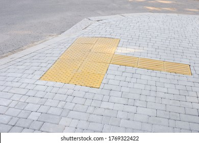 Special tracks for the blind and visually impaired. Tactile coating. Tactile Paving, Braille Blocks, Tactile Tiles, Visually Impaired Tiles, Tenji Blocks