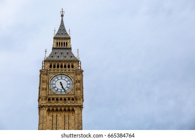 Special view of Big Ben Tower in London, United Kingdom