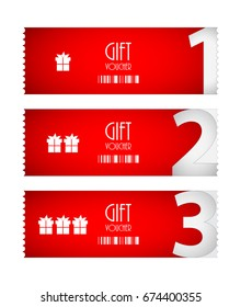 special voucher design, gift card, advertisement labels
