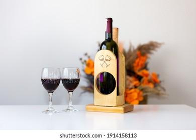 special wooden wine holder, handmade wine holder, wine holder, wine,