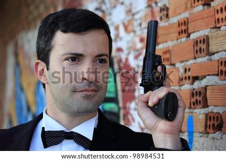 ce708f016 Specialservice Agent Body Guard 357 Gun Stock Photo (Edit Now ...