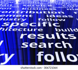 Specific search results. Text illustration image