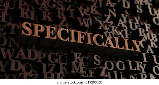 Specifically - Wooden 3D rendered letters/message.  Can be used for an online banner ad or a print postcard.
