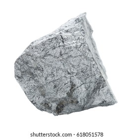 Specimen of geological collection mineral Cobaltite (Cobalt ore) stone isolated on white background; macro shooting