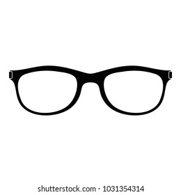 Spectacles with diopters icon. Simple illustration of spectacles with diopters  icon for web