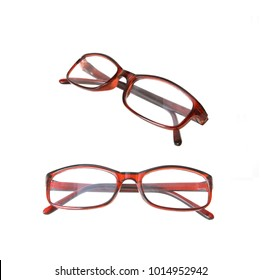 Spectacles ,glasses isolated on white