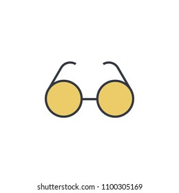 spectacles icon. Element of web icon with one color for mobile concept and web apps. Thin line spectacles icon can be used for web and mobile. Premium icon on white background