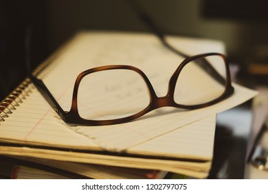 Spectacles on paper - studious
