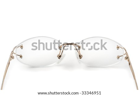 Spectacles Without Frames On White Stock Photo (Edit Now) 33346951 ...