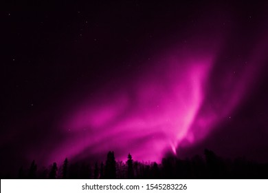 Spectacular and colorful northern lights
